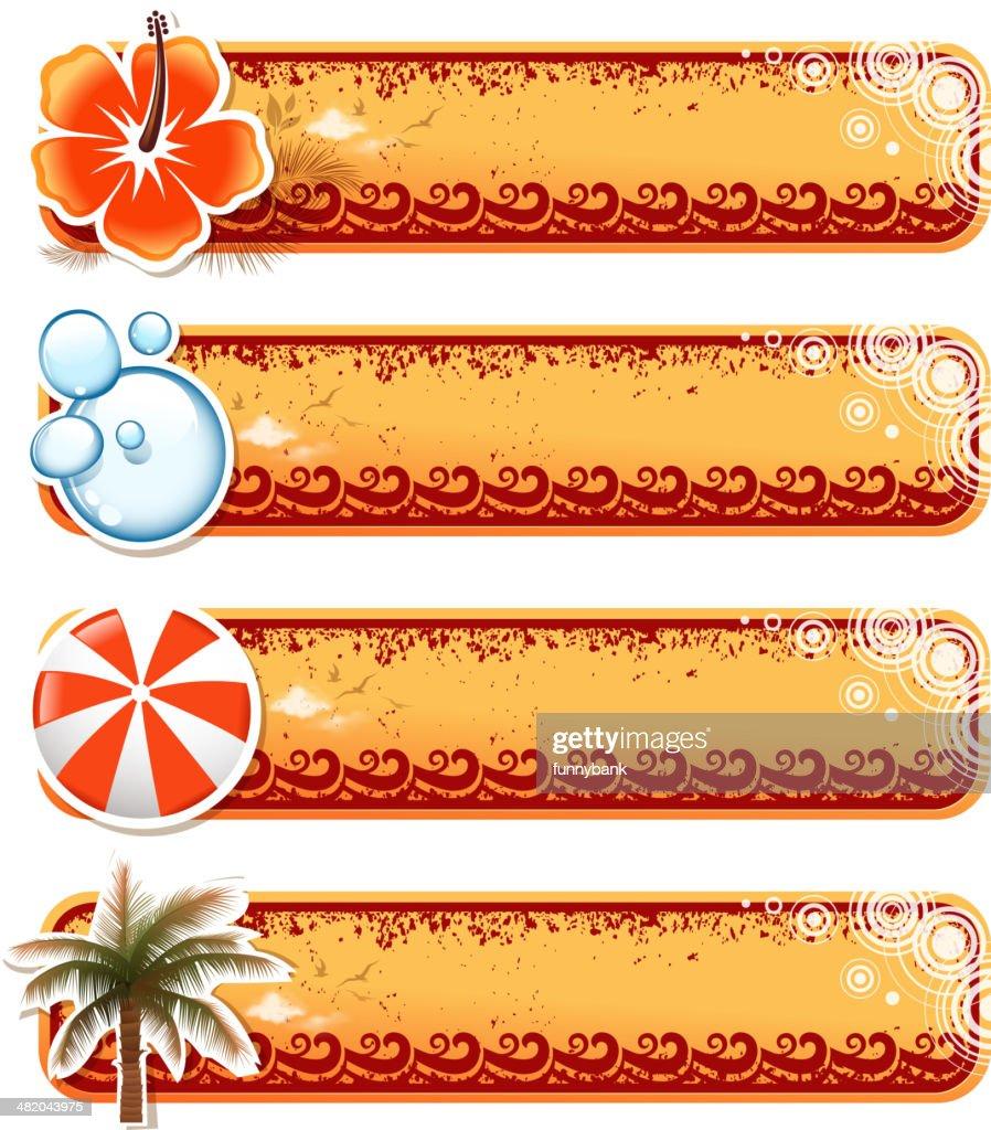blank summer banners