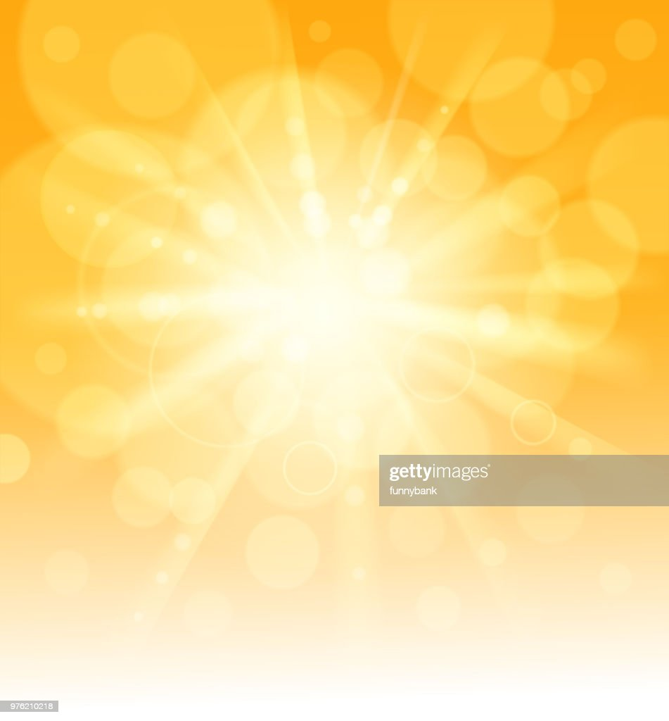 luz del sol en blanco : Ilustración de stock