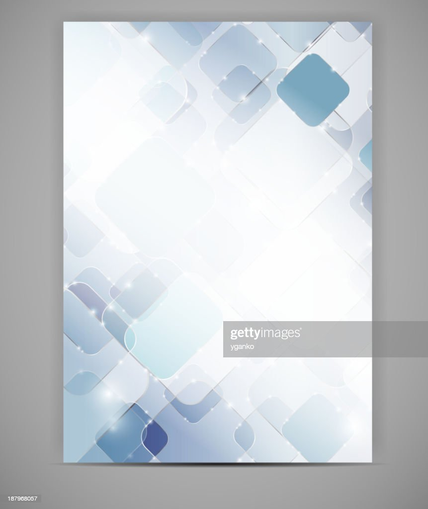 Blank template white and blue squares