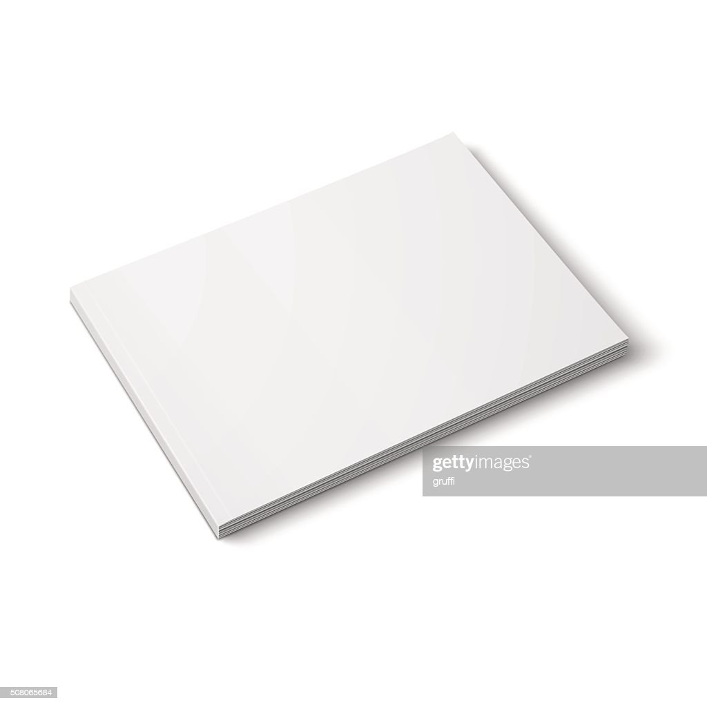 Blank thick magazine template. Wide format.