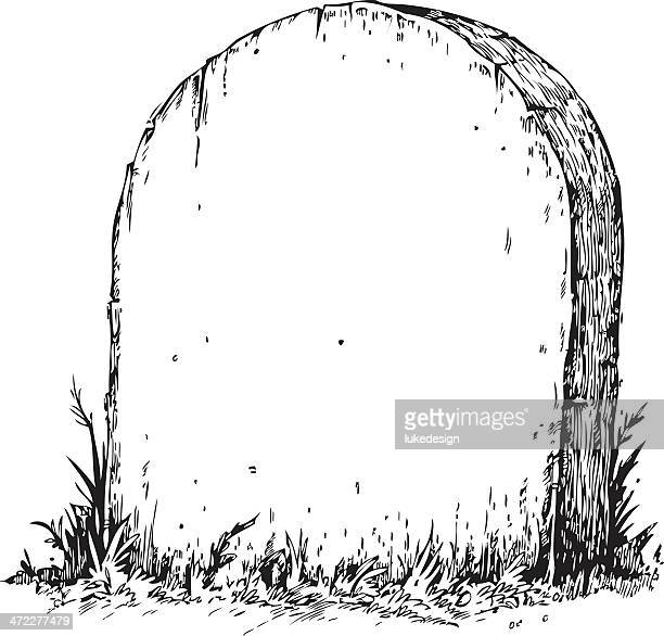 blank tombstone - grave stock illustrations, clip art, cartoons, & icons
