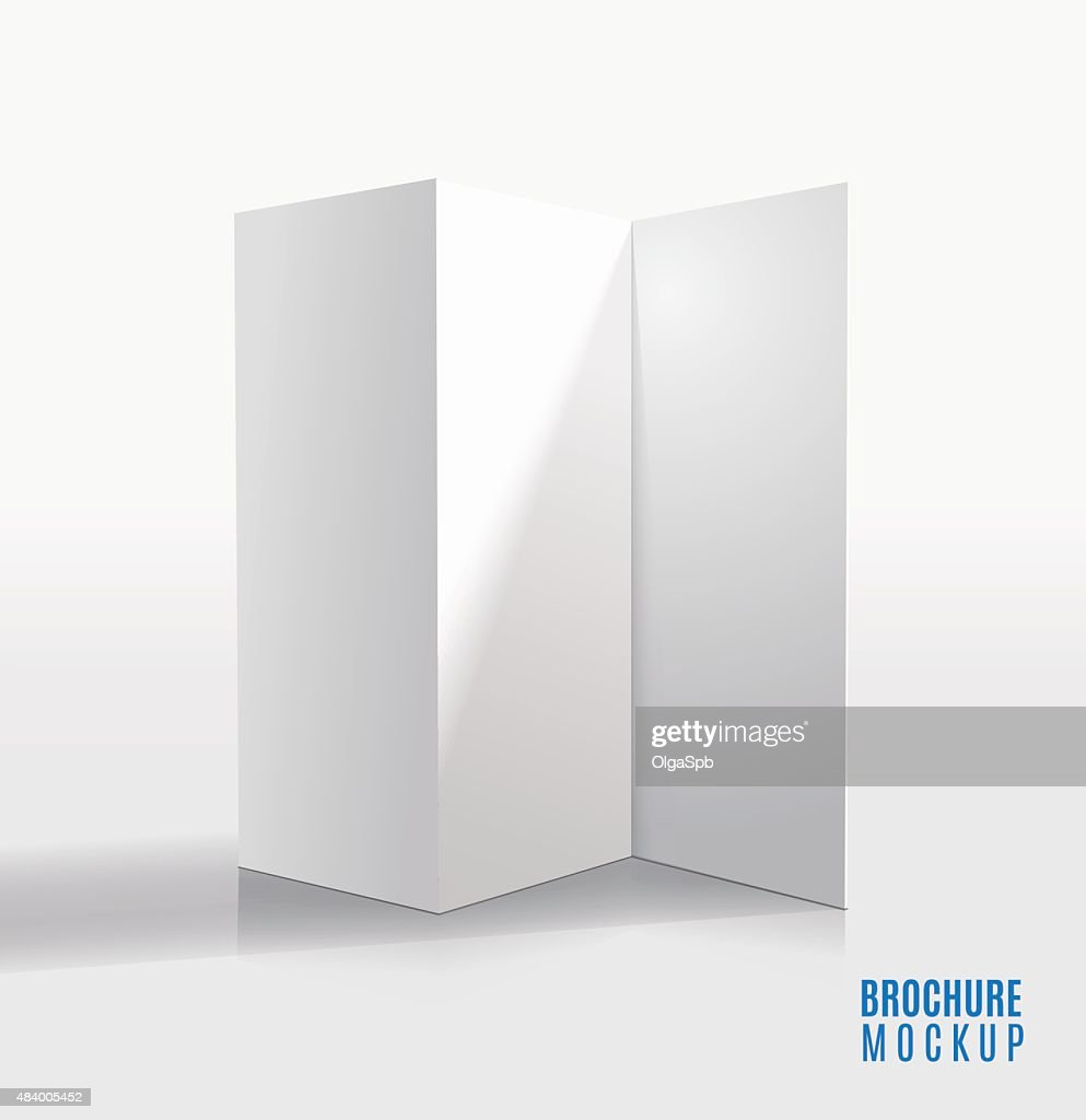 blank trifold brochure design isolated vector art getty images