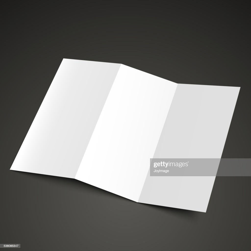blank trifold brochure design vector art getty images