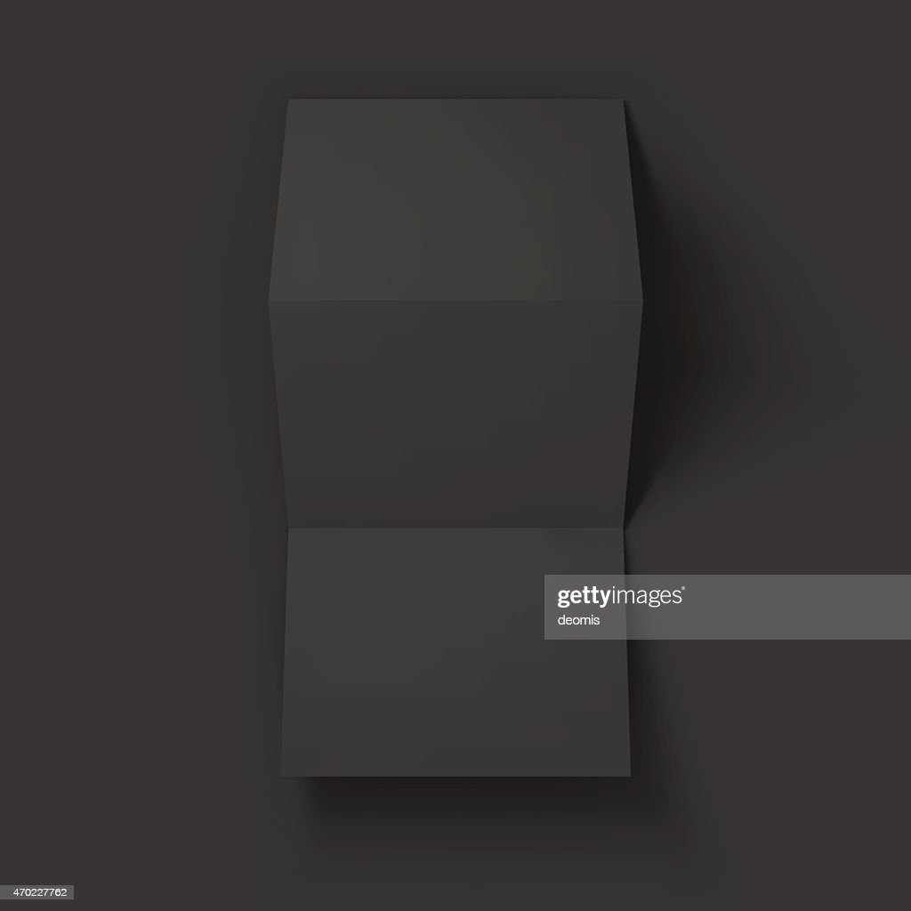 blank trifold paper brochure mockup vector art getty images