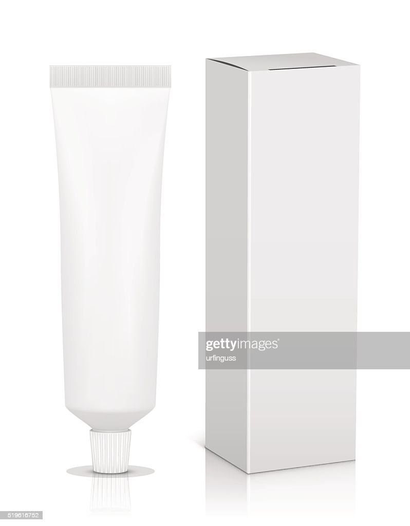 Blank tube with box for toothpaste