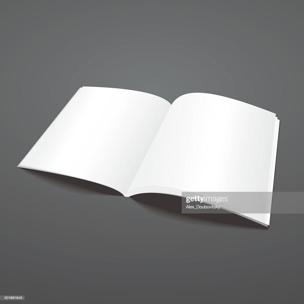 Blank vector open magazine template.