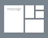 Blank vector stationery for corporate ID set isolated on dark