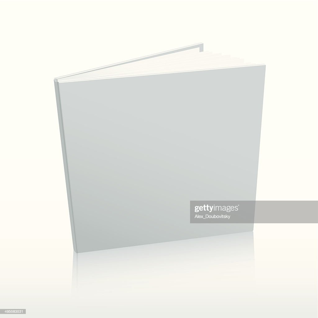 Blank vector white book cover template.