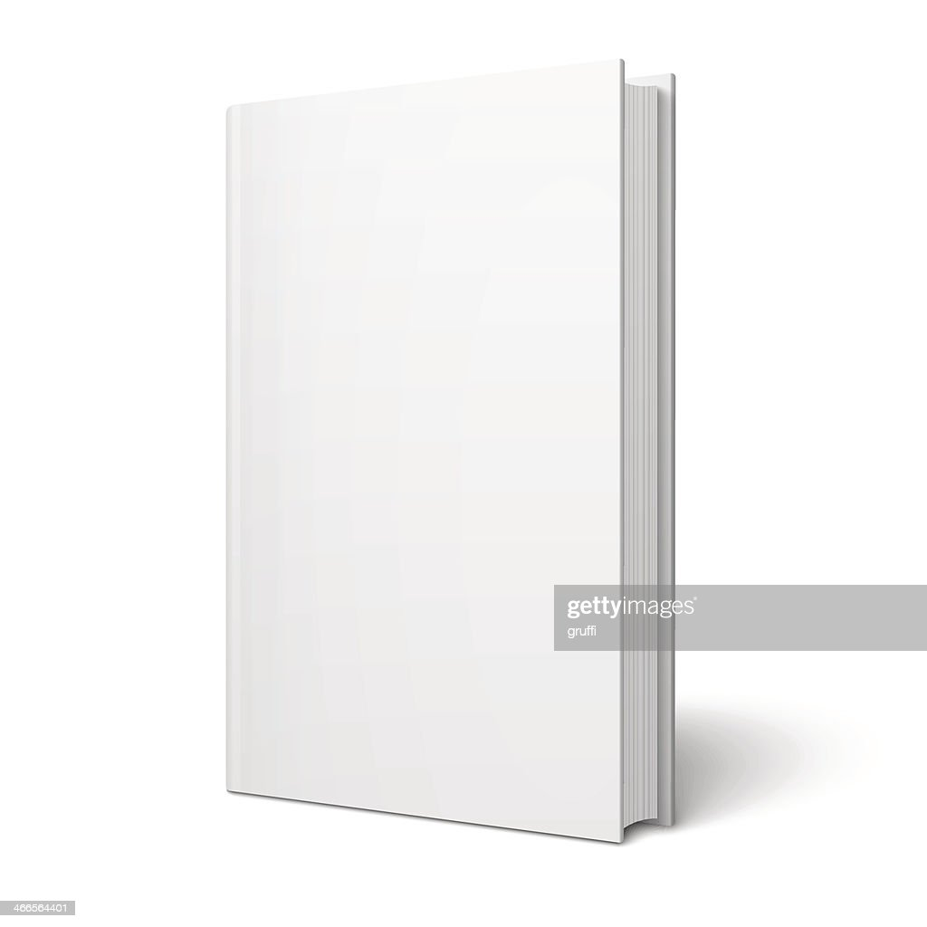 Blank vertical book template.