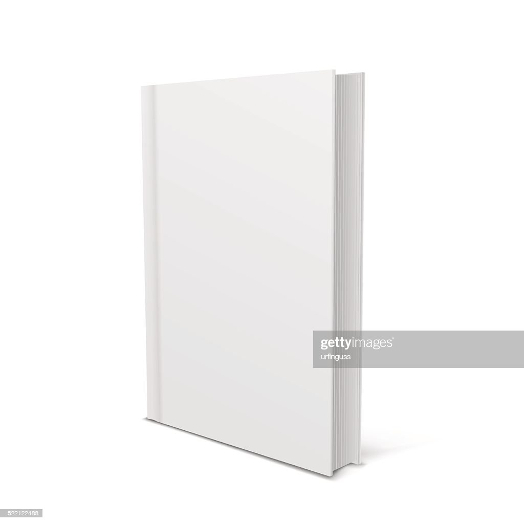 Blank vertical book