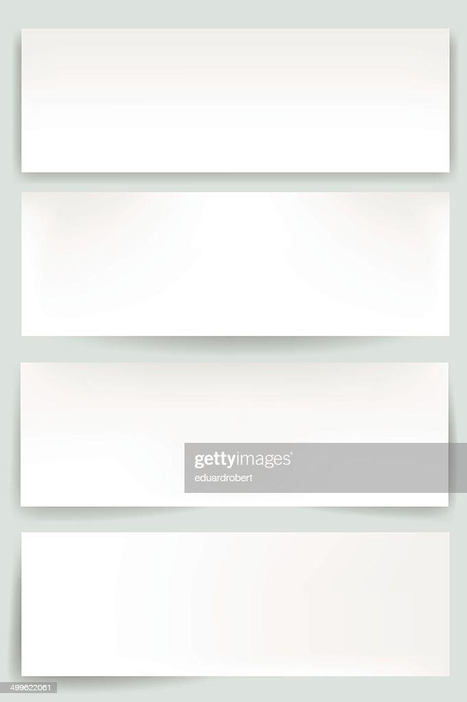 Blank web banners with editable mesh