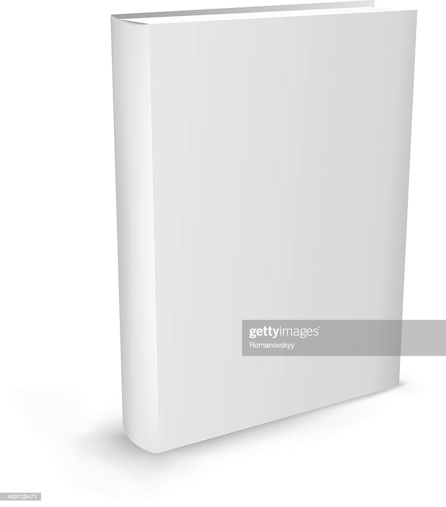 Blank white book isolated on white background