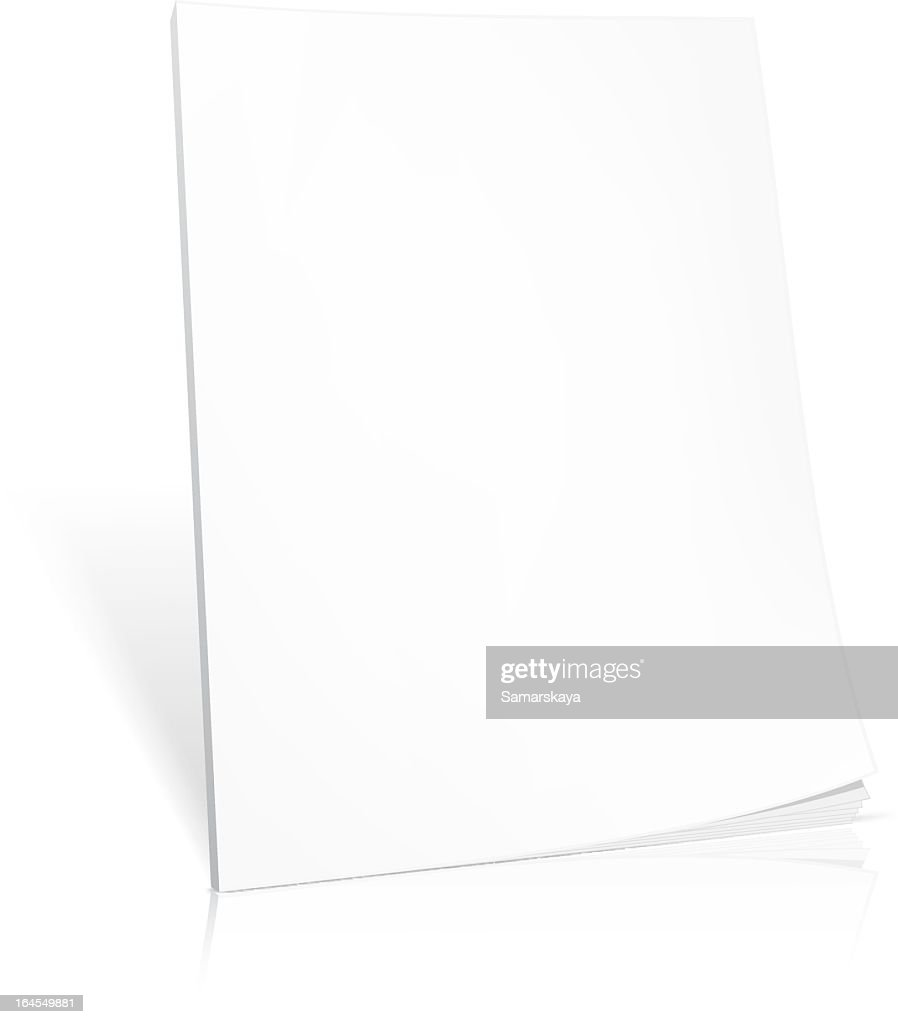 Blank white book on a white background