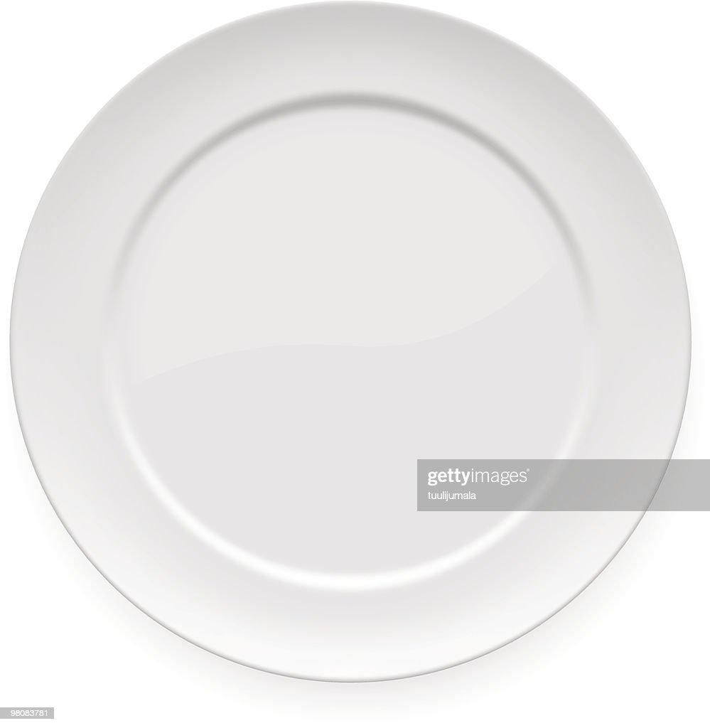 Blank white dinner plate