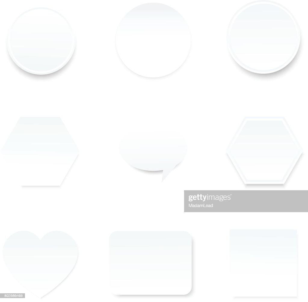 blank white paper note  for infographic background