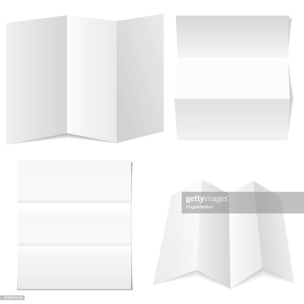 Blank white paper : stock illustration