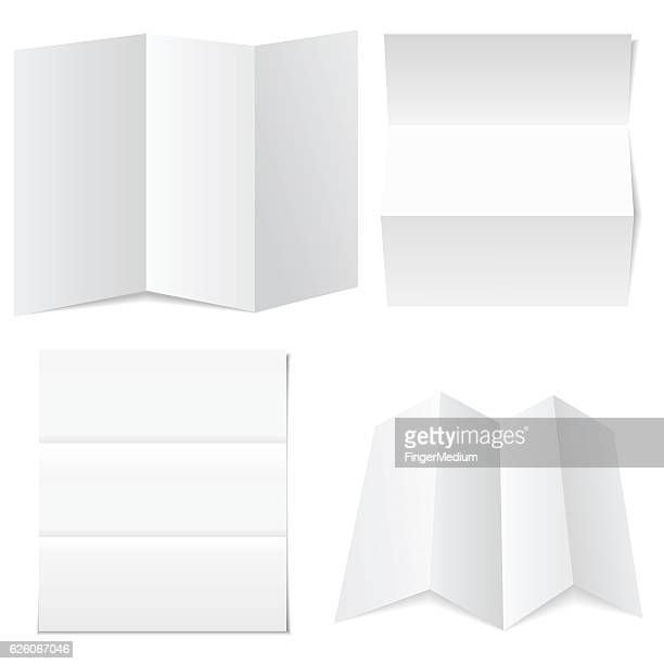 blank white paper - folded stock illustrations