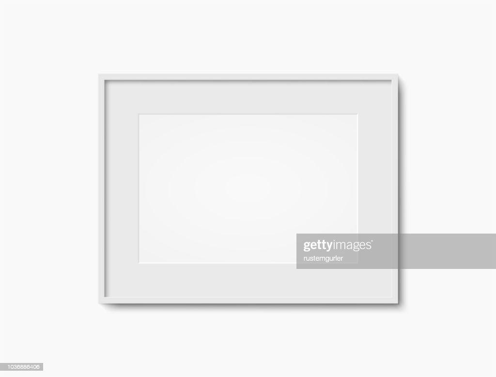 Blank white photo frame : stock illustration