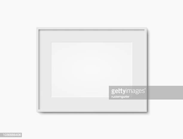 blank white photo frame - white stock illustrations