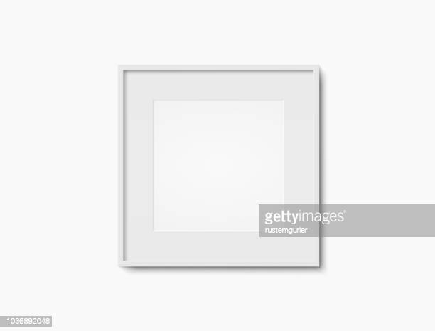 blank white photo frame - square stock illustrations