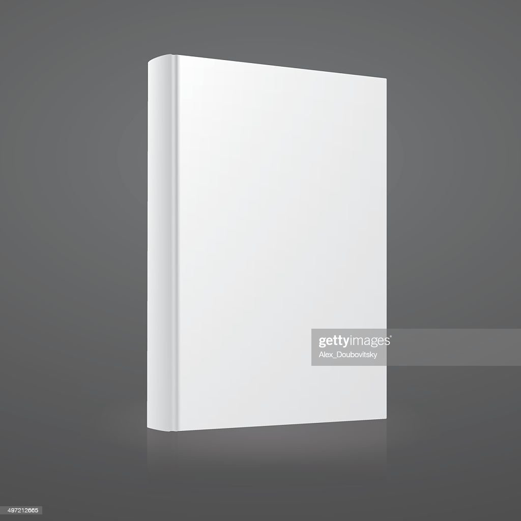 Blank white vector book cover template.