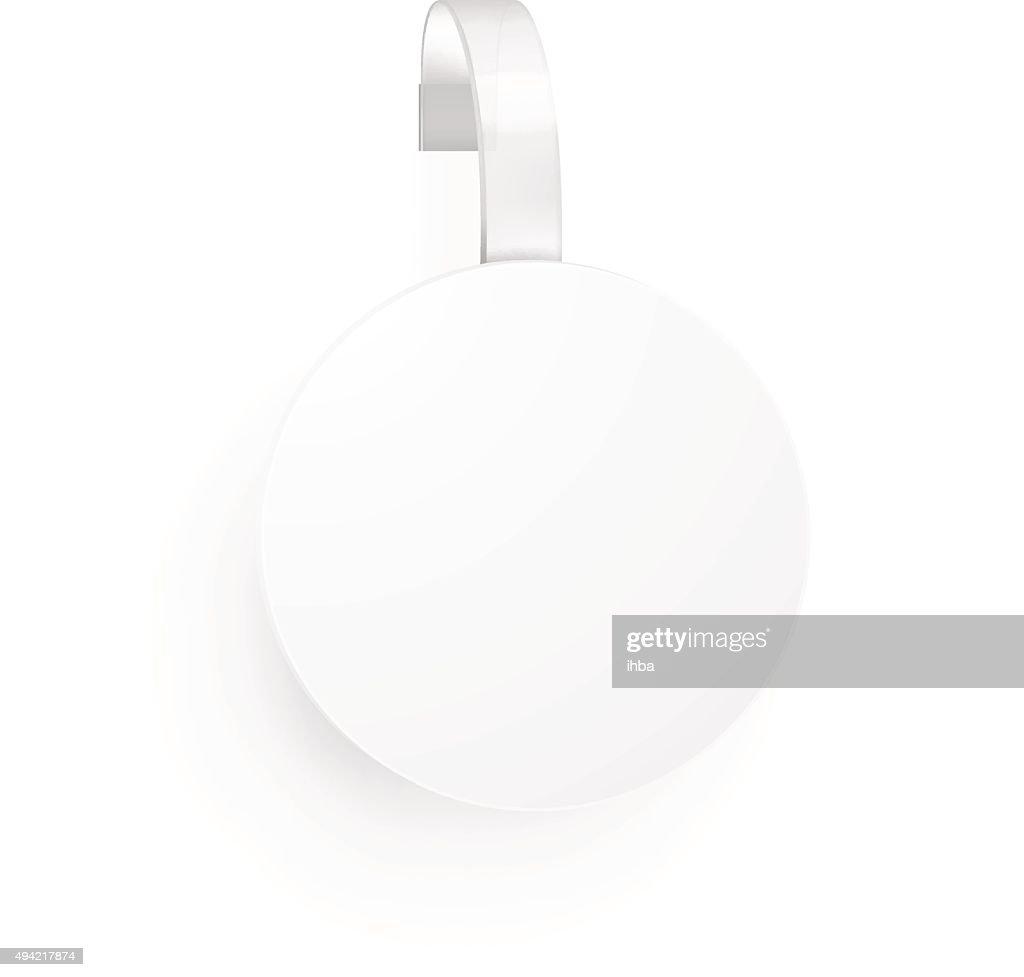 Blank wobbler on white background. Vector illustration