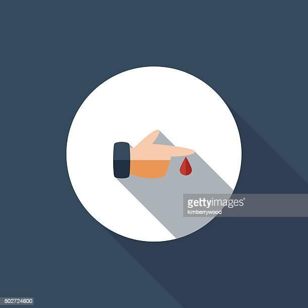 ilustraciones, imágenes clip art, dibujos animados e iconos de stock de sangrado - diabetes