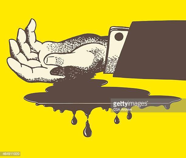 bleeding hand - murder stock illustrations, clip art, cartoons, & icons