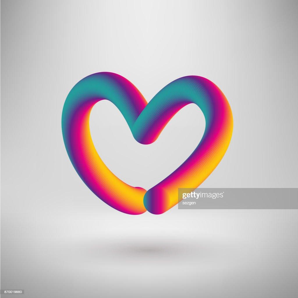 blend vector heart vector