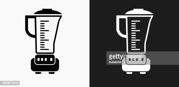Blender Icon on Black and White Vector Backgrounds