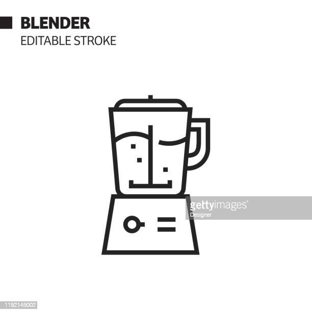 blender line icon, outline vector symbol illustration. pixel perfect, editable stroke. - art product stock illustrations