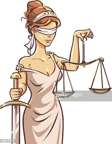 ilustraciones, imágenes clip art, dibujos animados e iconos de stock de ciego justicia - ojos tapados