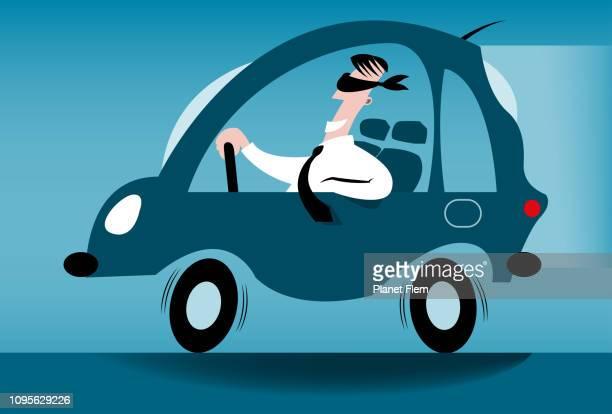 ilustraciones, imágenes clip art, dibujos animados e iconos de stock de conductor con los ojos vendados - ojos tapados