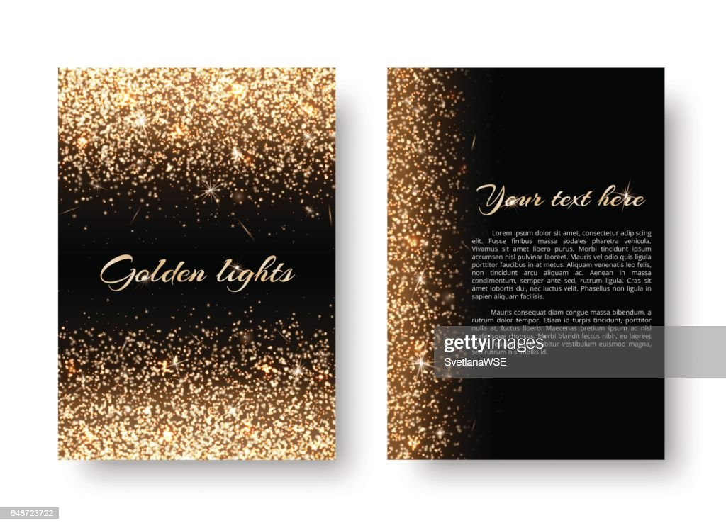 Bling background with glowing lights
