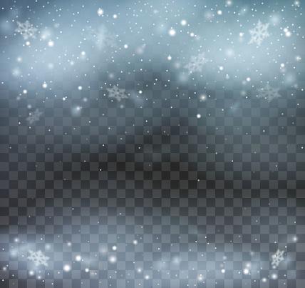 Blizzard on transparent background. - gettyimageskorea