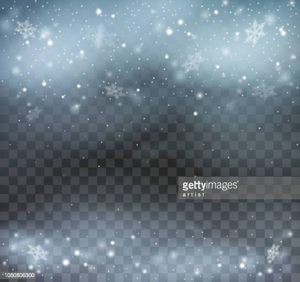 blizzard on transparent background. - cold temperature stock illustrations