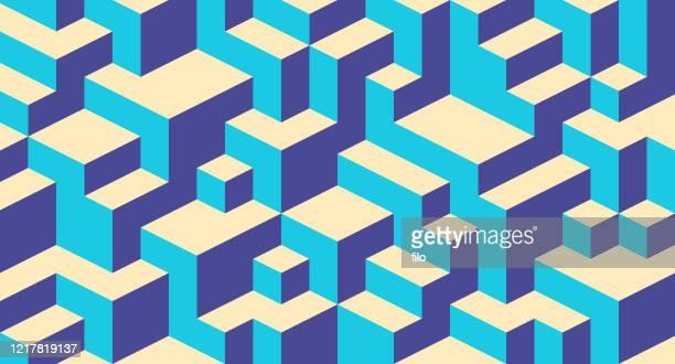 stockillustraties, clipart, cartoons en iconen met achtergrond abstract bouwen blokkeren - blokken