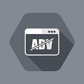 Block ADV - Vector flat minimal icon
