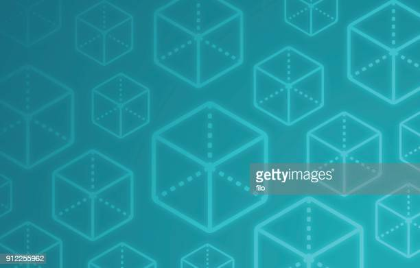 Block Cube Abstract Background