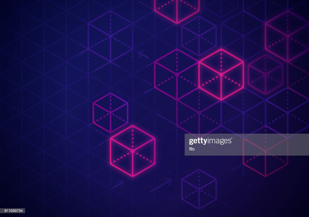 Blockchain Abstract Background : Stock Illustration