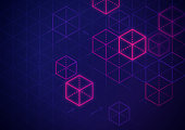 Blockchain Abstract Background