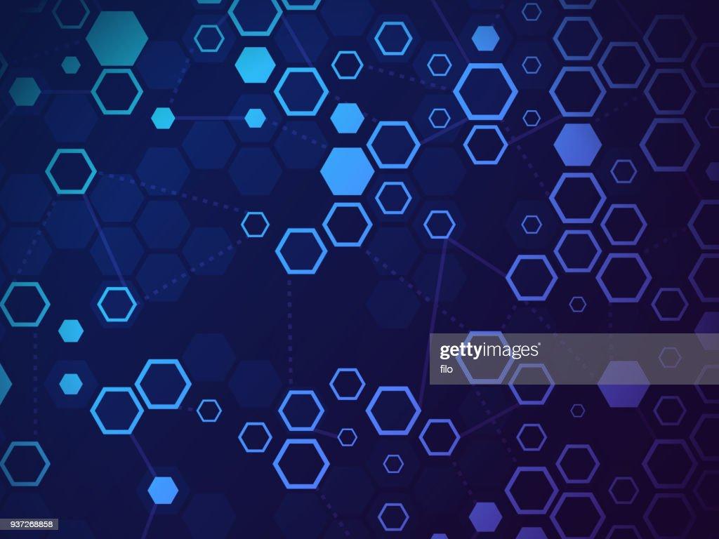 Blockchain Abstract Background : stock illustration
