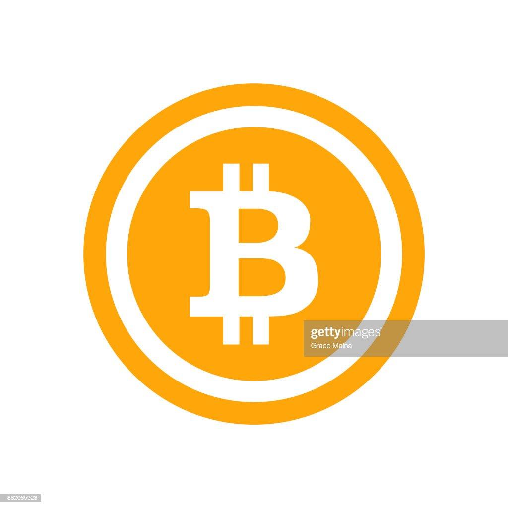 Blockchain Bitcoin アイコン - ベクトル : ストックイラストレーション