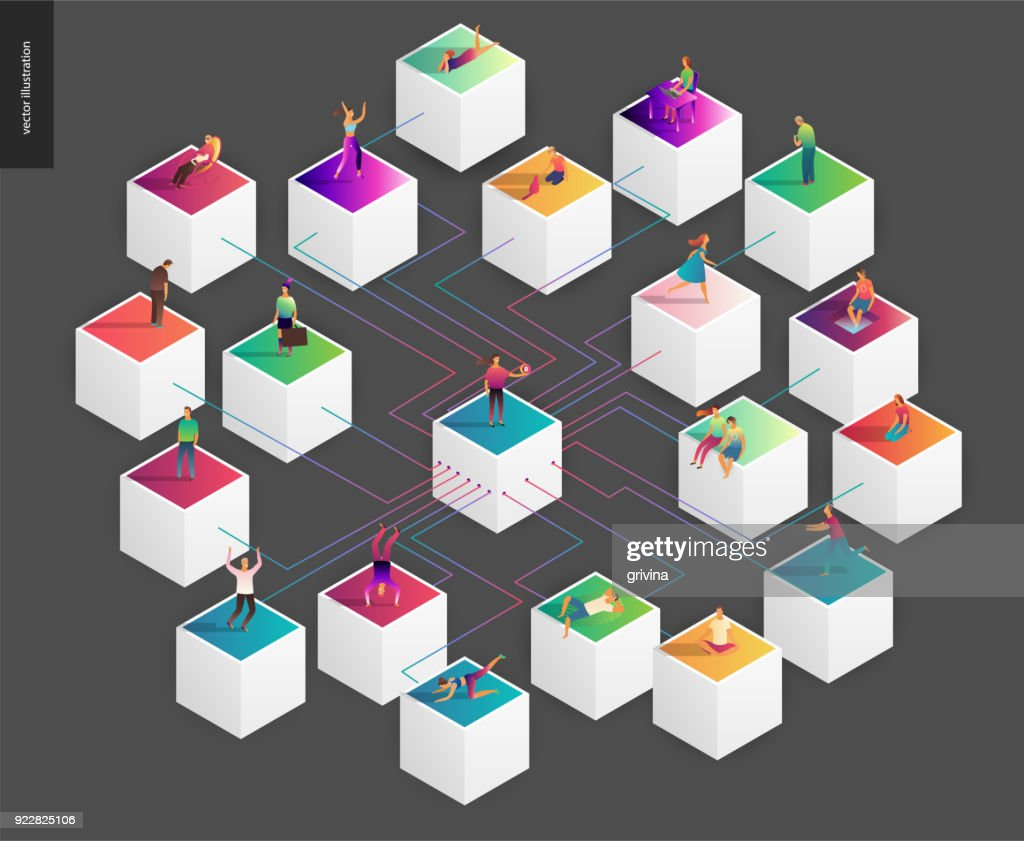 Blockchain concept vector illustration