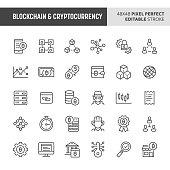 Blockchain & Cryptocurrency Vector Icon Set