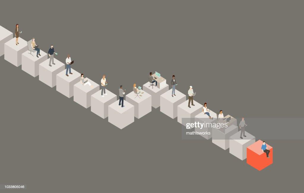 Blockchain illustration : stock illustration