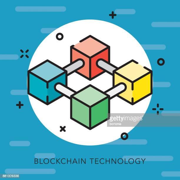 blockchain テクノロジー オープン概要 bitcoin アイコン - ブロックチェーン点のイラスト素材/クリップアート素材/マンガ素材/アイコン素材