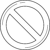 Blocked data line icon