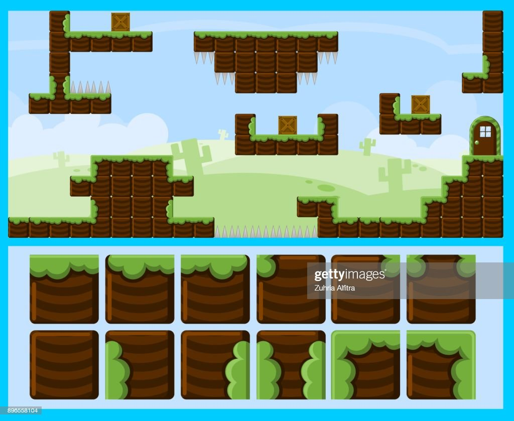 Blocky Land Game World