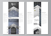 Blog graphic business templates. Page website design template. Colorful dark